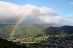 Arco iris en Oahu, Hawaii fotos de archivo libres de regalías