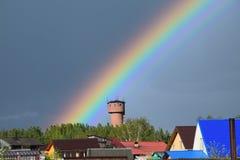 Arco iris en Rusia imagen de archivo
