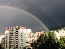 Arco iris en Tbilisi Fotos de archivo libres de regalías