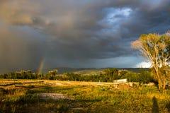 Arco iris en Tetonia Fotografía de archivo libre de regalías