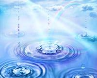 Arco iris en una lluvia stock de ilustración