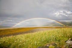 Arco iris, Escocia fotografía de archivo