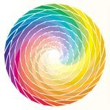 Arco iris espiral Imágenes de archivo libres de regalías