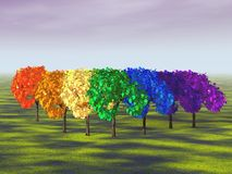 Arco iris formado árbol Ilustración del Vector