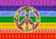 Arco iris islámico de la paz Imagenes de archivo