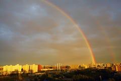 Arco iris mágicos de la ciudad, Pekín Fotografía de archivo