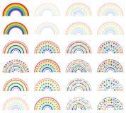 Arco iris medio con el sistema colorido de la estrella del amor libre illustration