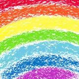 Arco iris pintado creyón en colores pastel, imagen Foto de archivo libre de regalías