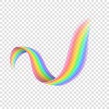 Arco iris realista en fondo transparente ilustración del vector