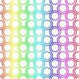 Arco iris Ring Scales Seamless Pattern Foto de archivo libre de regalías