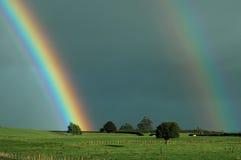 Arco iris rurales Imagen de archivo libre de regalías