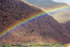 Arco iris sobre el camino Imagenes de archivo