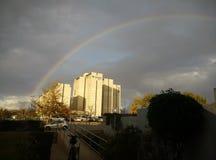 Arco iris sobre el teléfono Aviv University Imagenes de archivo