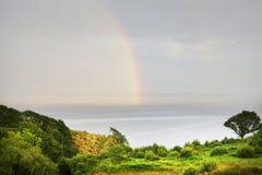Arco iris sobre la bahía de Donegal, Killybegs, Irlanda del oeste Imagen de archivo libre de regalías