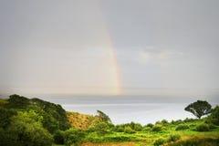 Arco iris sobre la bahía de Donegal, Killybegs, Irlanda del oeste 2 Fotografía de archivo libre de regalías
