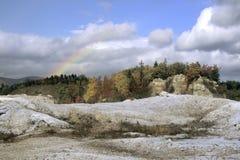 Arco iris sobre la mina Imagen de archivo libre de regalías