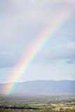 Arco iris sobre la opinión aérea de Provence Foto de archivo libre de regalías