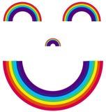 Arco iris sonriente Fotos de archivo