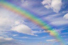 Arco iris y cielo Imagen de archivo libre de regalías