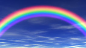 Arco iris y cielo hermoso libre illustration