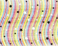 Arco iris y estrellas Imagen de archivo libre de regalías
