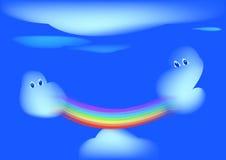 Arco iris y nubes Fotografía de archivo