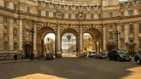 Arco Londres del Ministerio de marina Fotografía de archivo