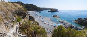 Arco Magno, San Nicola Arcella, Praia en sto, Calabria, sydliga Italien, Italien, Europa Arkivbild