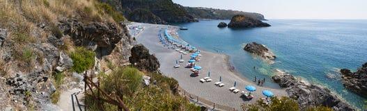 Arco Magno, San Nicola Arcella, Praia klacz, Calabria, Południowy Włochy, Włochy, Europa Obrazy Stock