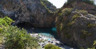 Arco Magno, San Nicola Arcella, Praia klacz, Calabria, Południowy Włochy, Włochy, Europa Zdjęcie Stock