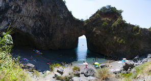 Arco Magno, San Nicola Arcella, Praia klacz, Calabria, Południowy Włochy, Włochy, Europa Zdjęcie Royalty Free