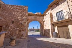 Arco medieval em Ayllon imagens de stock royalty free