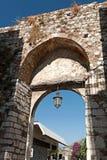 Arco medievale in Taormina, Sicilia, Italia Fotografia Stock Libera da Diritti