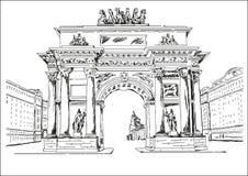 Arco - monumento Foto de archivo libre de regalías