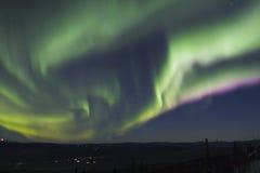 Arco movente muito rápido da Aurora Imagens de Stock Royalty Free