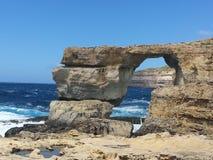 Arco natural 2 de la roca - Azure Window Foto de archivo libre de regalías