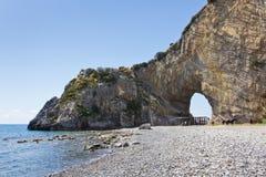 Arco natural del ` s de Palinuro Foto de archivo libre de regalías