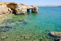 Arco natural em S'Anea Scoada San Vero Milis, Oristano, Sardinia, Itália Imagem de Stock Royalty Free