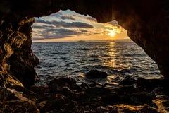 Arco natural en la roca Imagen de archivo