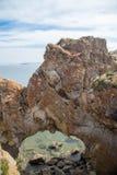 Arco natural no Lago Baikal, cabo do ` s de Kurma imagens de stock