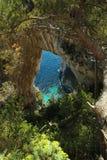 Arco Naturale卡普里岛意大利 免版税库存图片