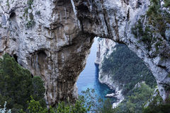 Arco Naturale in Capri, Italy Stock Image