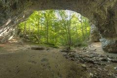 Arco naturale del ponte Immagine Stock