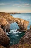 Arco naturale della roccia Immagine Stock