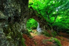 Arco naturale della roccia Fotografia Stock