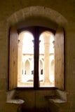 Arco nel castello di Majorca Bellver Fotografie Stock