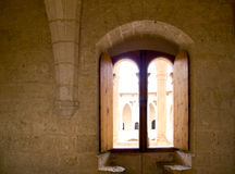 Arco nel castello di Majorca Bellver Immagine Stock