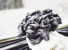 Arco nero per il funerale, retro tono immagini stock libere da diritti