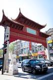 Arco no bairro chinês em Montreal, Canadá Foto de Stock
