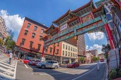Arco no bairro chinês, Washington, EUA Fotos de Stock Royalty Free